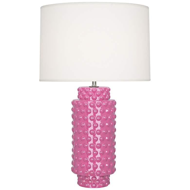 Robert Abbey Dolly Schiaparelli Pink Ceramic Table Lamp