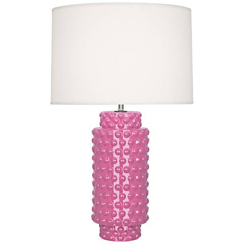 Robert Abbey Dolly Schiaparelli Pink Ceramic Table Lamp