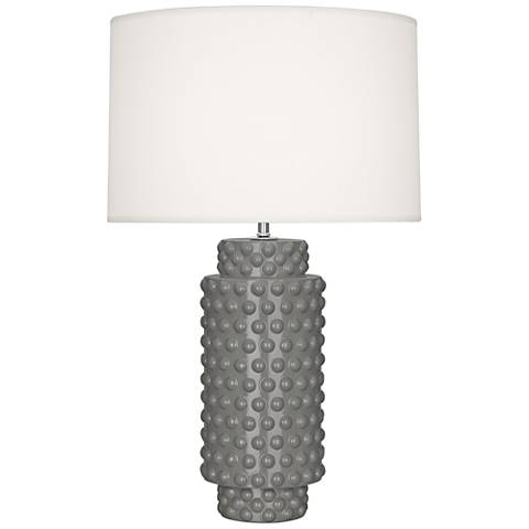Robert Abbey Dolly Smokey Taupe Ceramic Table Lamp