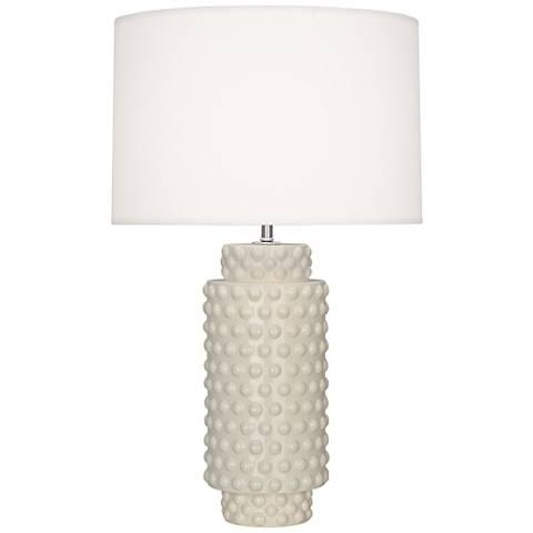 Robert Abbey Dolly Bone Ceramic Table Lamp