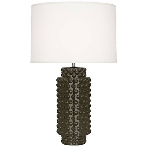 Robert Abbey Dolly Brown Tea Ceramic Table Lamp