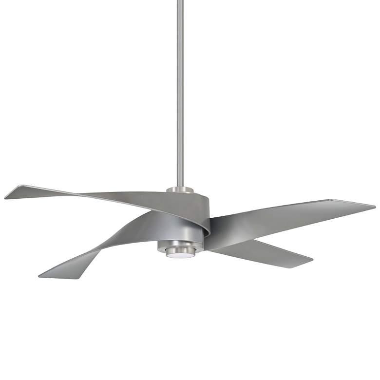 "64"" Minka Aire Artemis IV Brushed Nickel DC Ceiling Fan"