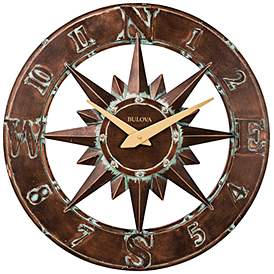 Nor Easter Aged Bronze 27 Round Outdoor Wall Clock