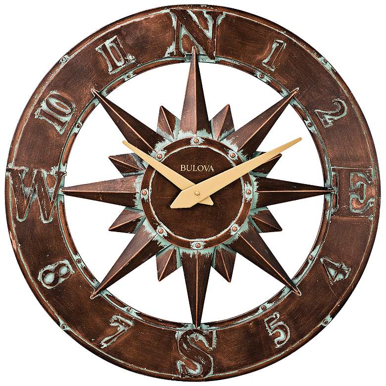 Nor 39 Easter Aged Bronze 27 Round Outdoor Wall Clock