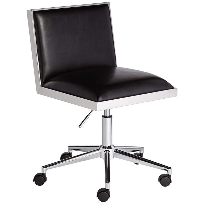 Emario Aspen Black Modern Adjustable Swivel Office Chair