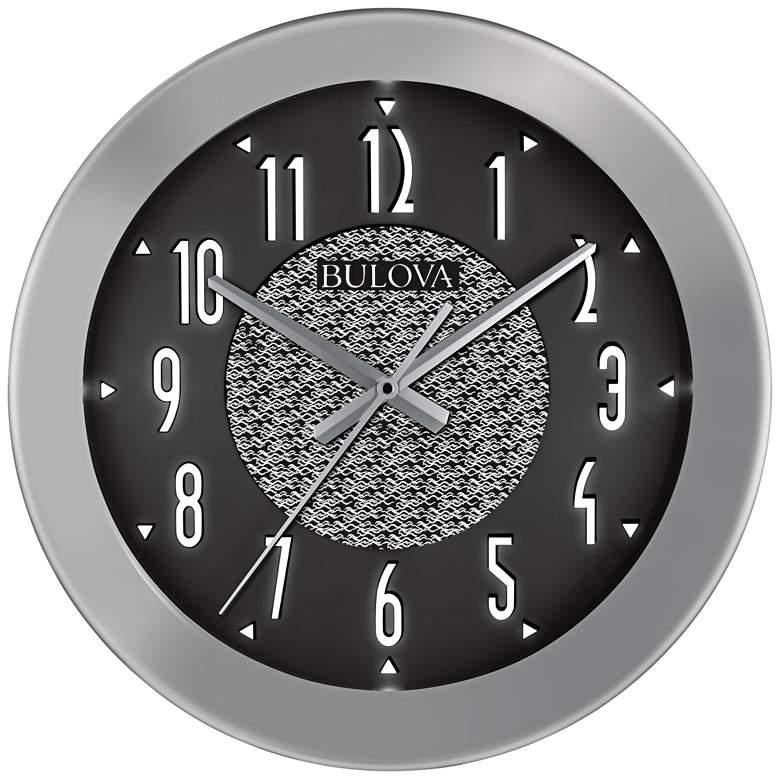 "Fantasmic Silver 18"" Round Bluetooth Outdoor Wall Clock"