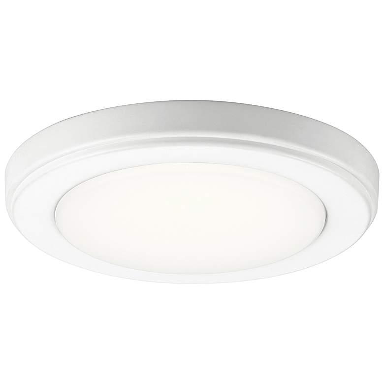 """Kichler Zeo 7"""" Wide Round White 3000K LED Ceiling Light"""