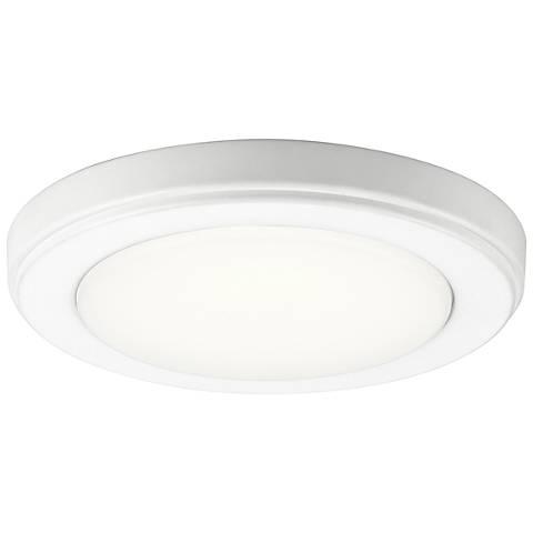 """Kichler Zeo 7"""" Wide Round White 4000K LED Ceiling Light"""