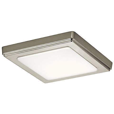 """Zeo 7"""" Wide Square Brushed Nickel 3000K LED Ceiling Light"""