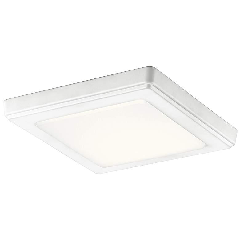 """Kichler Zeo 7"""" Wide Square White 3000K LED Ceiling Light"""
