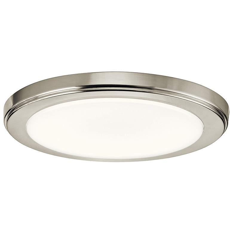 "Zeo 10"" Wide Round Brushed Nickel3000K LED Ceiling Light"