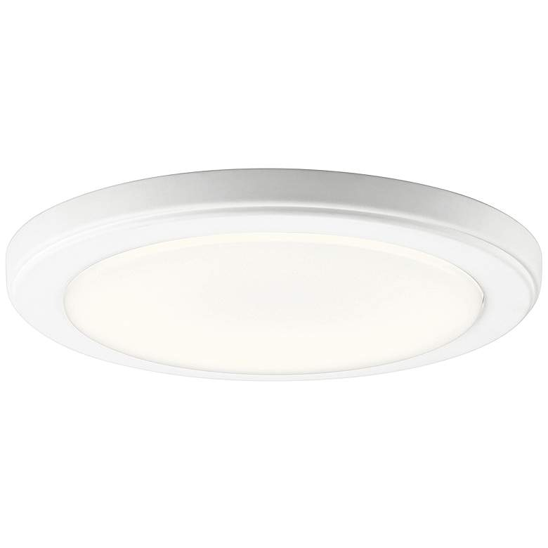 "Kichler Zeo 10"" Wide Round White 4000K LED Ceiling Light"