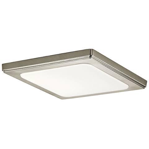 """Zeo 10"""" Wide Square Brushed Nickel 3000K LED Ceiling Light"""