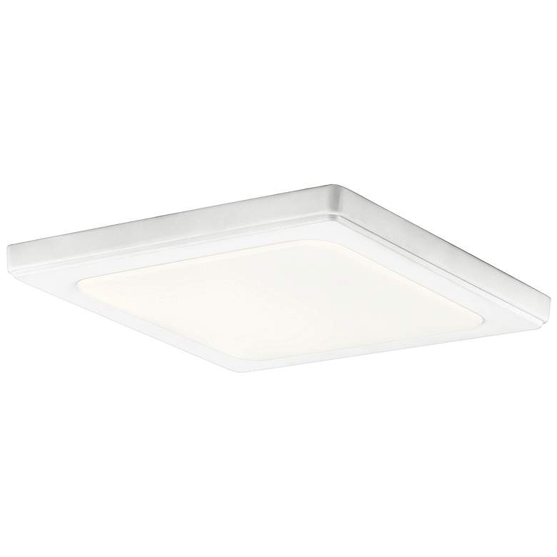 """Kichler Zeo 10"""" Wide Square White 3000K LED Ceiling Light"""