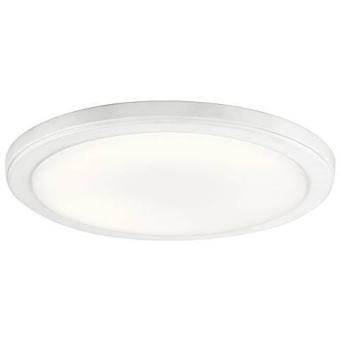 """Kichler Zeo 13"""" Wide Round White 3000K LED Ceiling Light"""