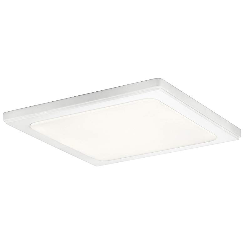 "Kichler Zeo 13"" Wide Square White 4000K LED Ceiling Light"