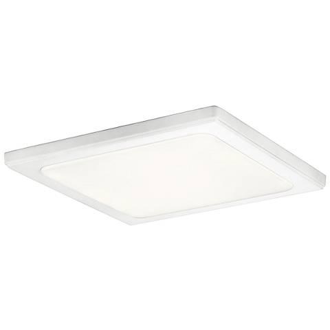 """Kichler Zeo 13"""" Wide Square White 4000K LED Ceiling Light"""