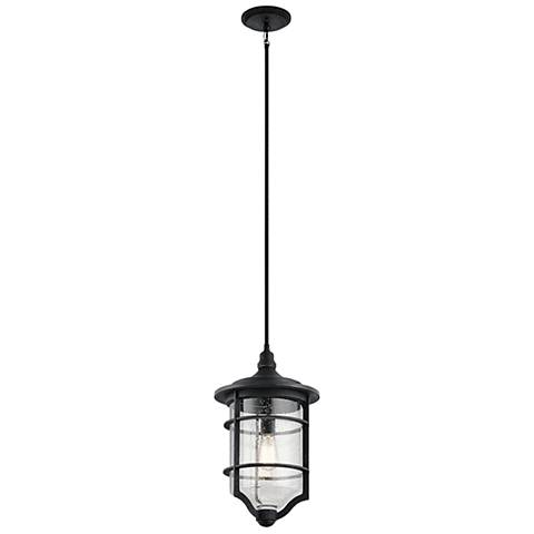 "Royal Marine 20"" High Distressed Black Outdoor Hanging Light"