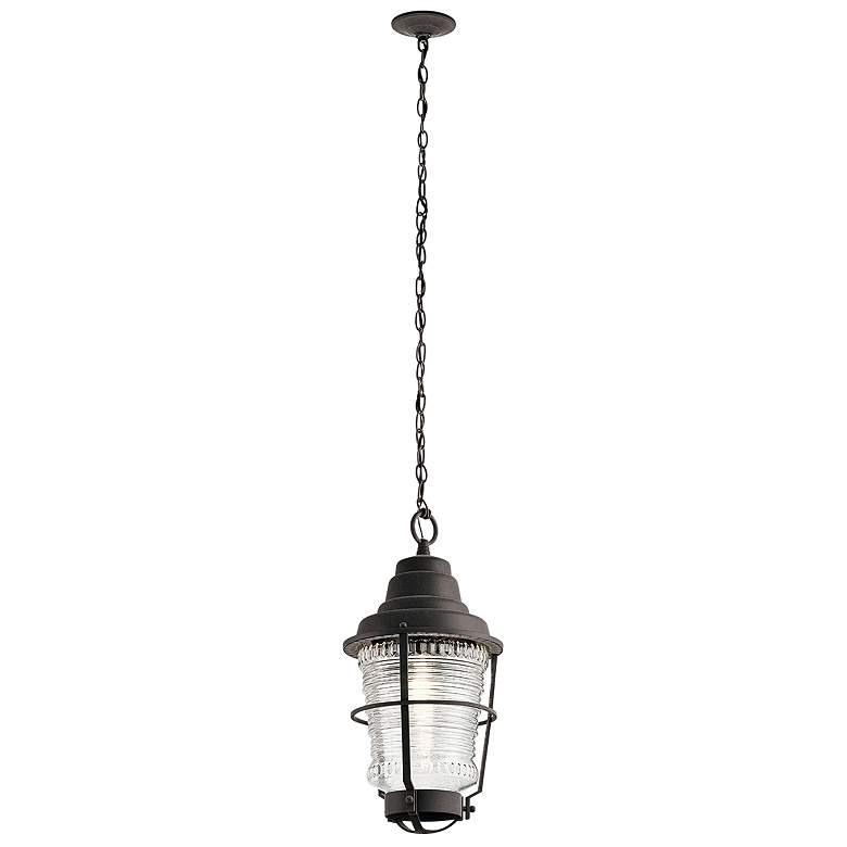 """Chance Harbor 21"""" High Weathered Zinc Outdoor Hanging Light"""