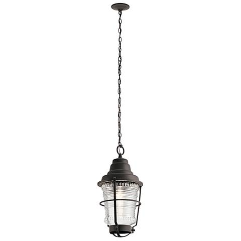 "Chance Harbor 21"" High Weathered Zinc Outdoor Hanging Light"