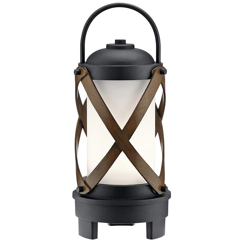 Berryhill Black LED Portable Lantern w/ Bluetooth Speaker