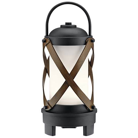 Berryhill Black LED Portable Lantern w/ Bluetooth Speaker