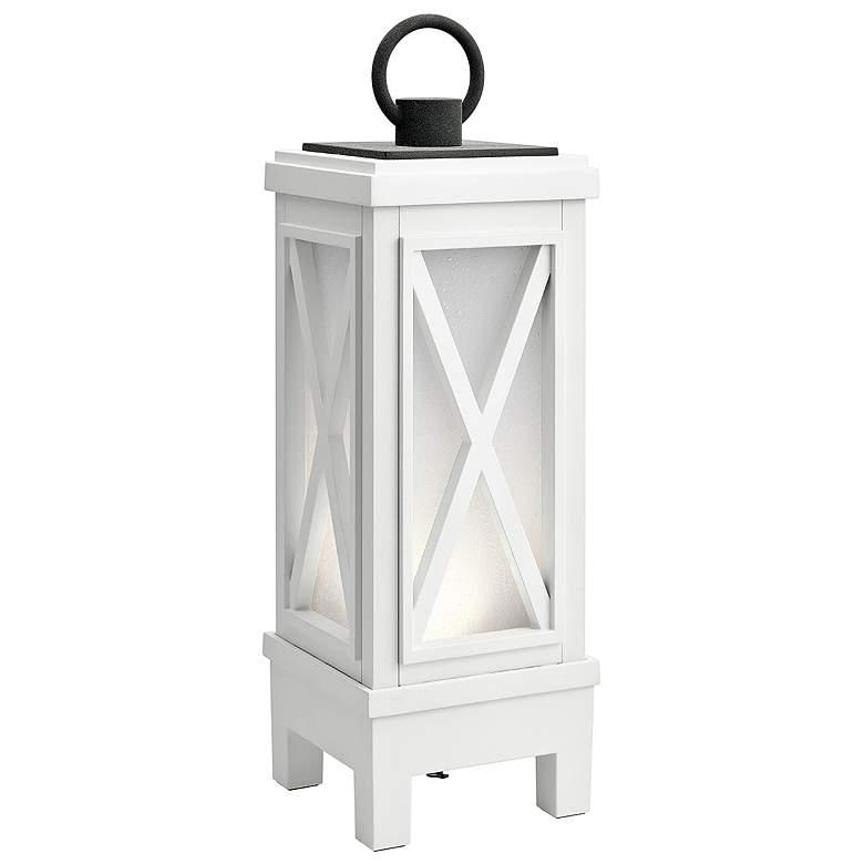 Montego White LED Portable Lantern w/ Bluetooth Speaker