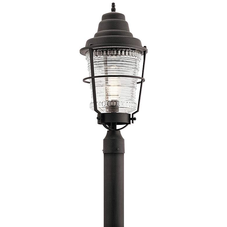 """Chance Harbor 23 1/2"""" High Weathered Zinc Outdoor Post Light"""