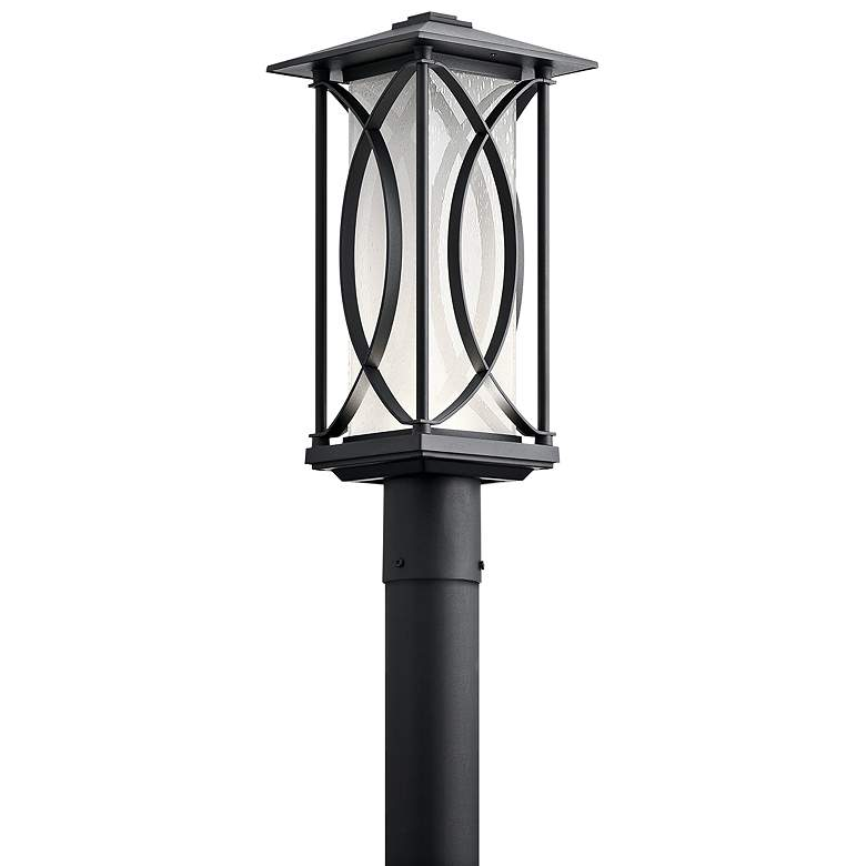 "Kichler Ashbern 19"" High Textured Black LED Outdoor"