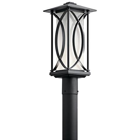 "Kichler Ashbern 19"" High Textured Black LED Outdoor Post Light"