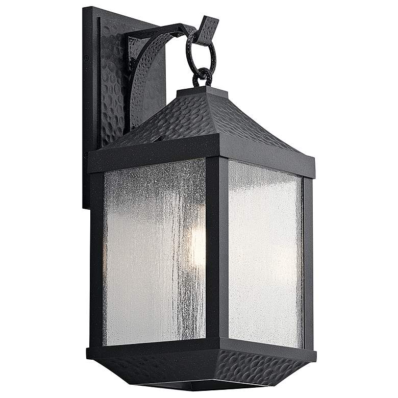 """Springfield 21 1/4"""" High Distressed Black Outdoor Wall Light"""