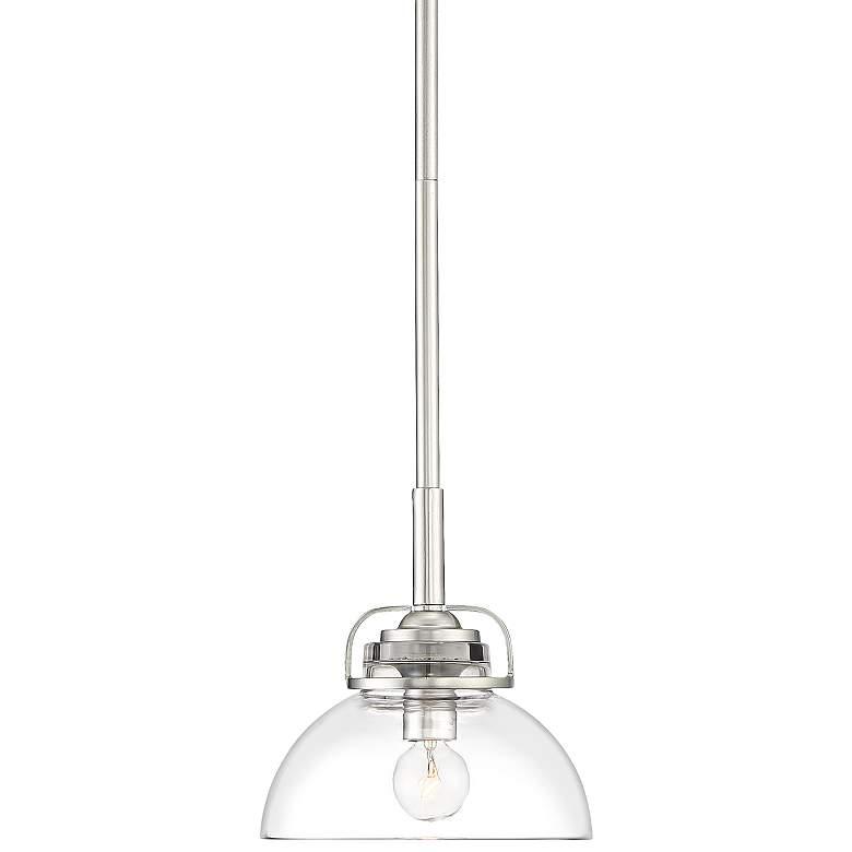 """Calpella 6 1/2"""" Wide Clear Glass Mini Pendant Light"""