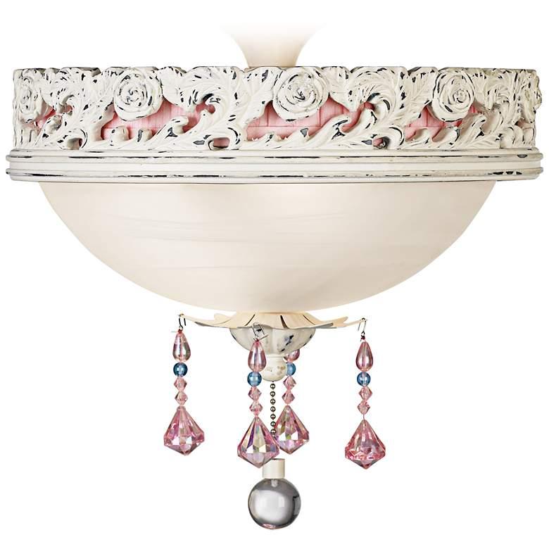 Pretty In Pink Pull Chain Ceiling Fan 2-Light LED Light Kit