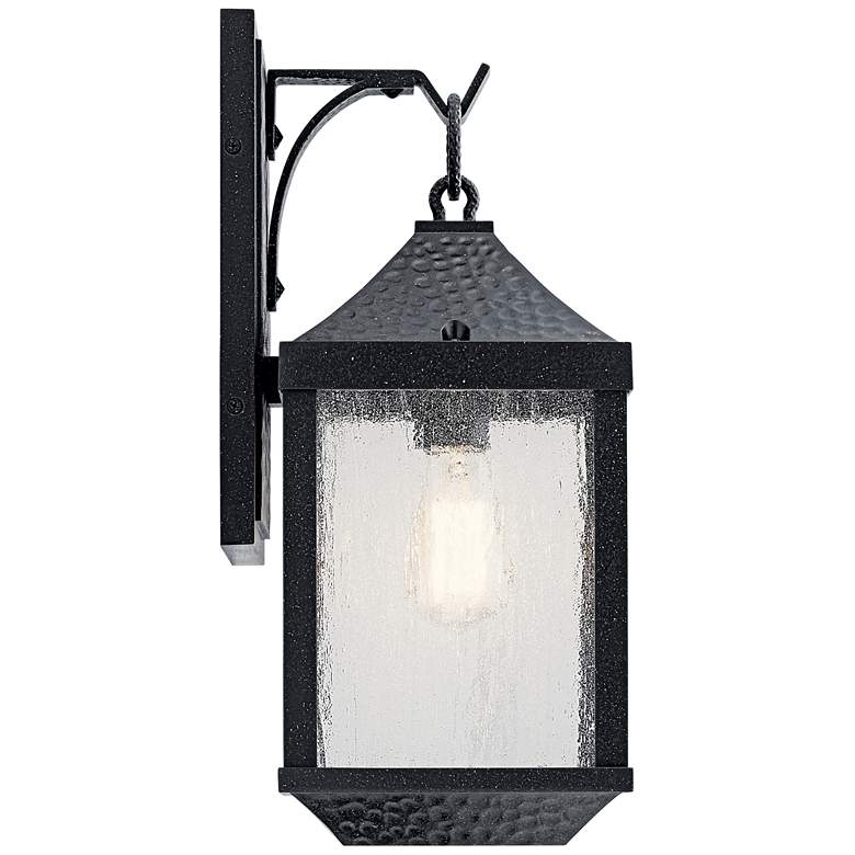 """Springfield 17 3/4"""" High Distressed Black Outdoor Wall Light"""
