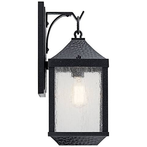 "Springfield 17 3/4"" High Distressed Black Outdoor Wall Light"