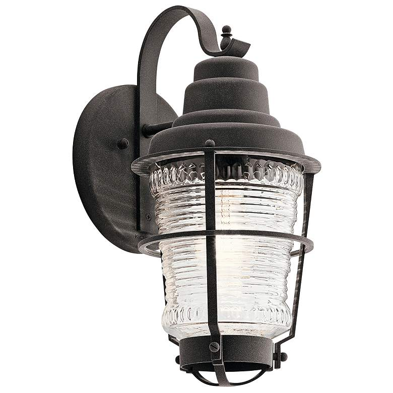 """Chance Harbor 14 1/2"""" High Weathered Zinc Outdoor Wall Light"""