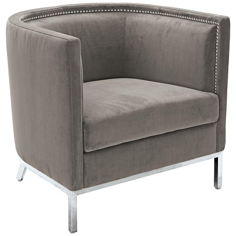 Wales Portsmouth Gray Barrel Accent Armchair