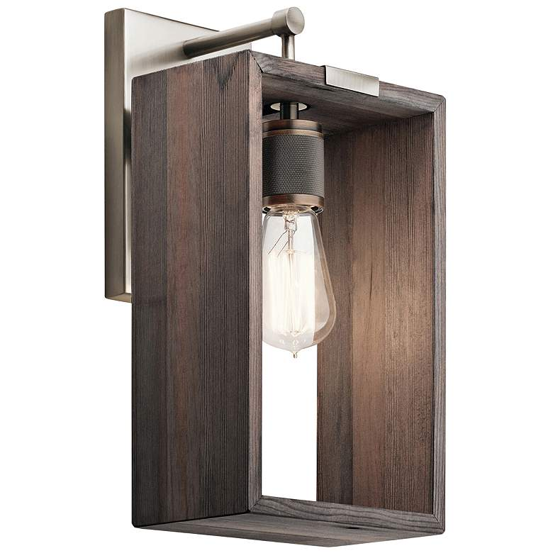 "Industrial Frames 14 1/2"" High Classic Pewter Wall Sconce"