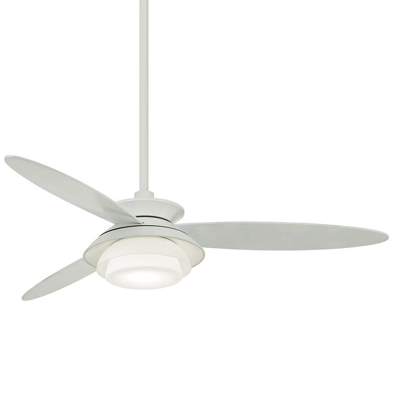 """56"""" Minka Aire Stack White Dimmable LED Ceiling Fan"""