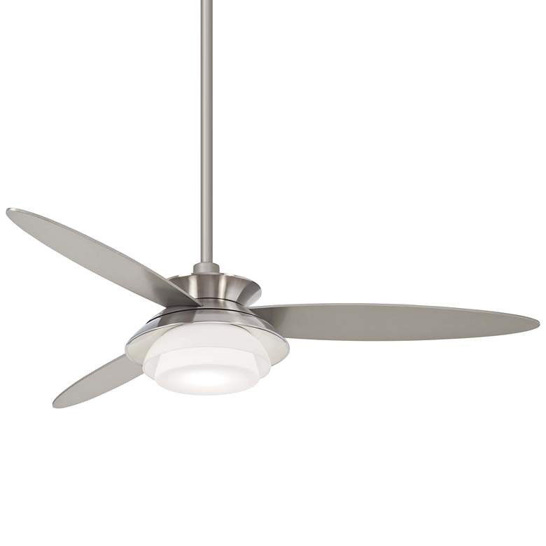 """56"""" Minka Aire Stack Brushed Nickel Dimmable LED Ceiling Fan"""
