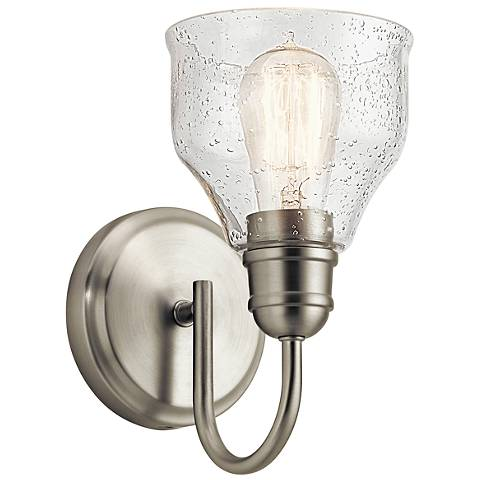 "Kichler Avery 9 1/4"" High Brushed Nickel Wall Sconce"