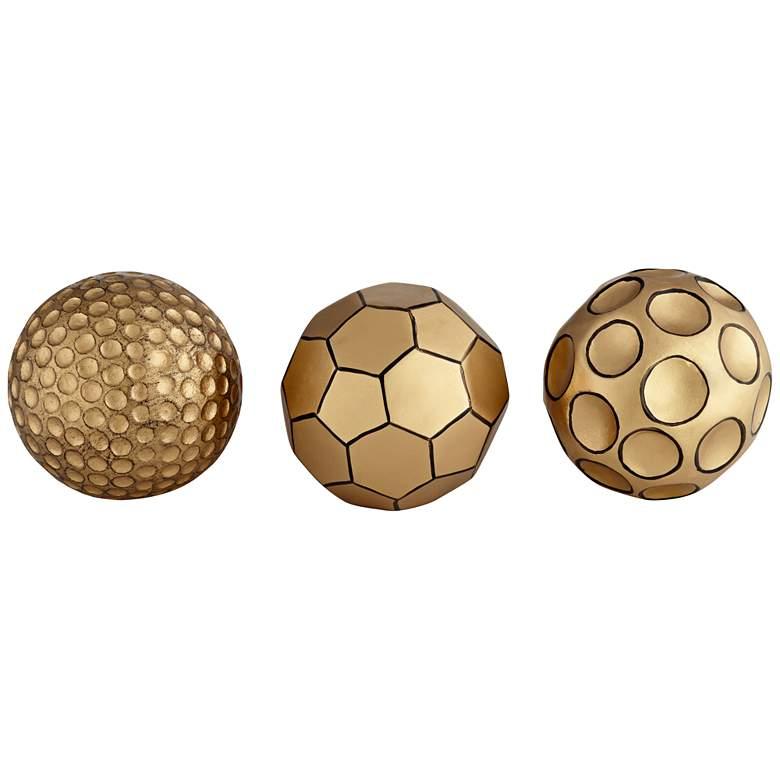 "Edwin 4"" Wide Decorative Small Gold Orbs -"