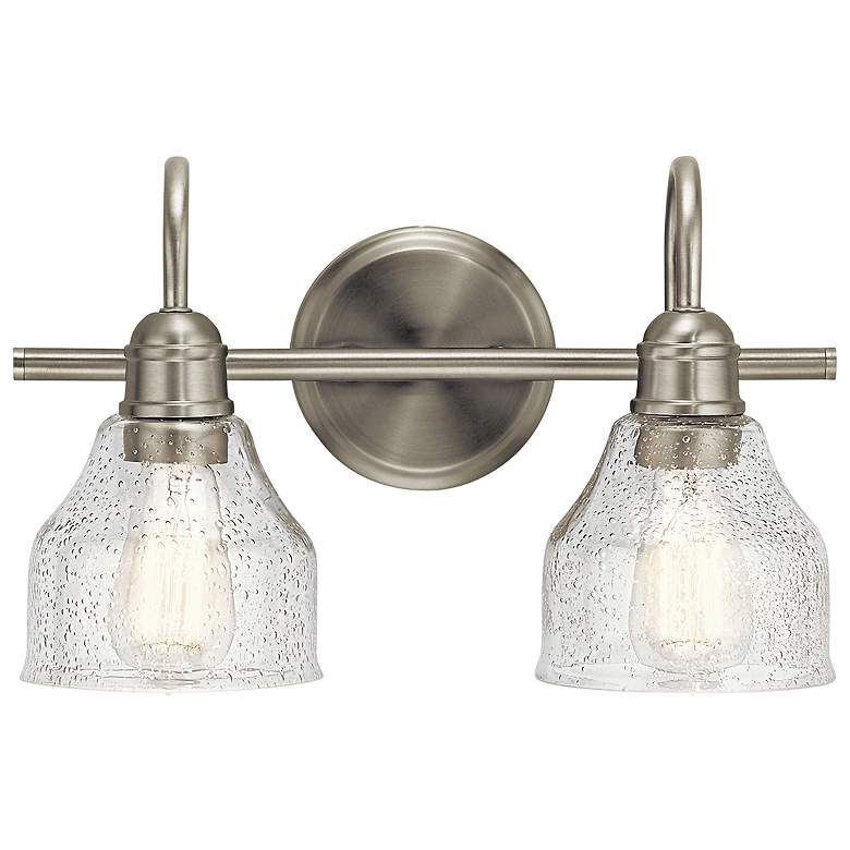 """Kichler Avery 9 1/4"""" High Brushed Nickel 2-Light Wall Sconce"""