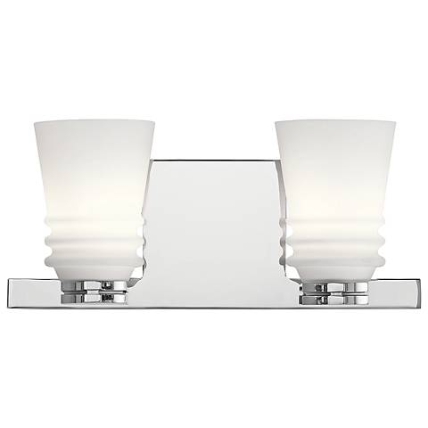 "Kichler Victoria 5 3/4"" High Chrome 2-Light Wall Sconce"