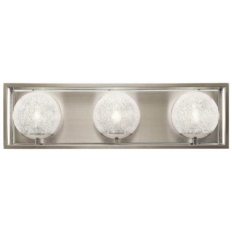 "Kichler Karia 21 1/4"" Wide Brushed Nickel 3-Light Bath Light"
