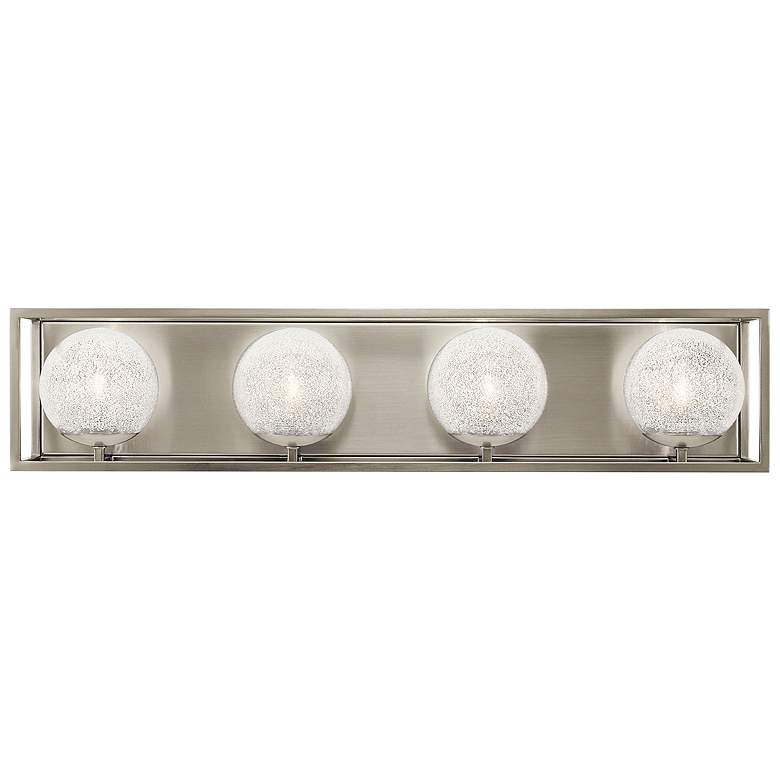 "Kichler Karia 29"" Wide Brushed Nickel 4-Light Bath Light"