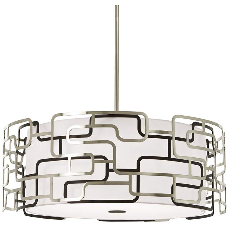 "Alecia's Tiers 25"" Wide Nickel and Bronze LED"