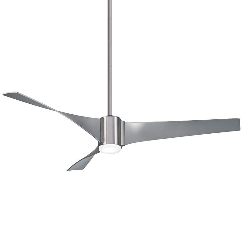 """60"""" Minka Aire Triple Brushed Steel LED Ceiling Fan"""