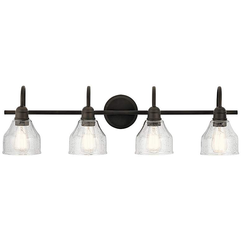 "Kichler Avery 33 1/4"" Wide Olde Bronze 4-Light Bath Light"
