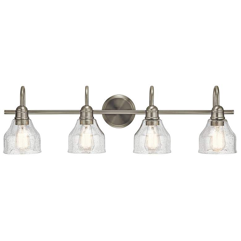 "Kichler Avery 33 1/4"" Wide Brushed Nickel 4-Light Bath Light"